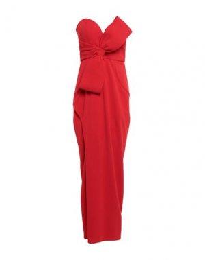 Длинное платье FOREVER UNIQUE. Цвет: красный