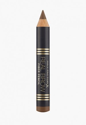 Карандаш для бровей Max Factor Real Brow Fiber Pencil Тон 001 light brown. Цвет: коричневый