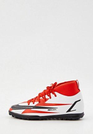 Бутсы зальные Nike JR SUPERFLY 8 CLUB CR7 TF. Цвет: белый